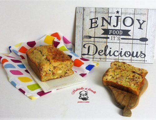 Plumcake con fiori di zucca speck e mozzarella