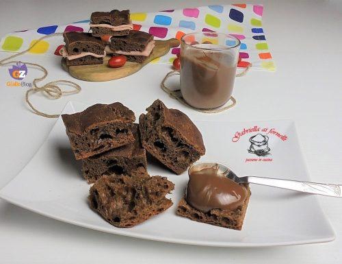 Focaccia con cioccolato fondente nell'impasto