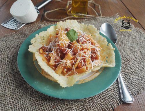Pasta e patate risottata con salsiccia