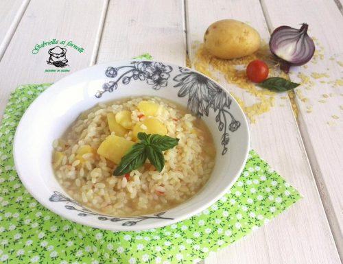 Riso e patate in brodo o risottato