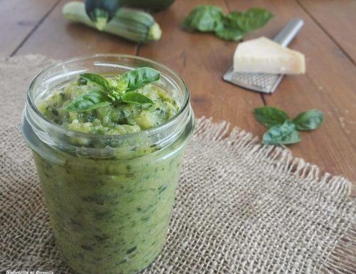 Pesto o crema di zucchine cotte