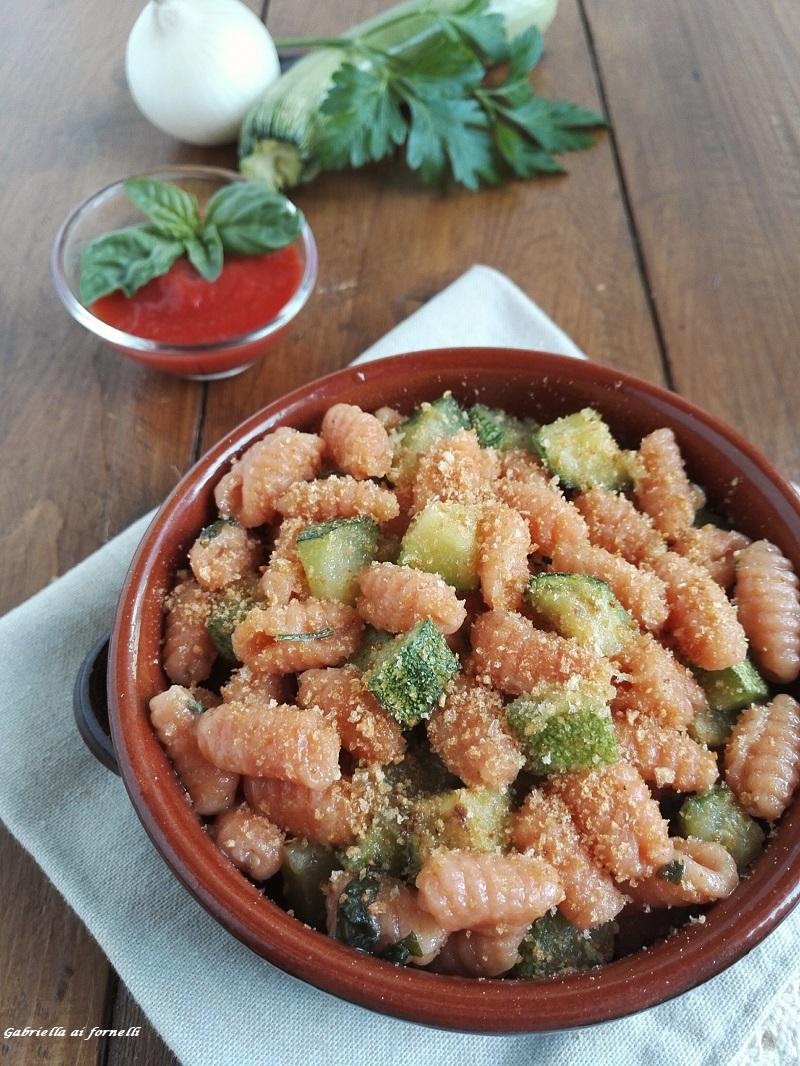 cavatelli al ragù di zucchine