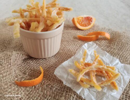 Scorzette di arancia candite zuccherose