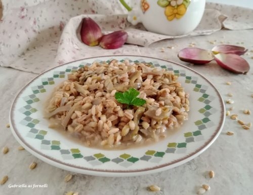 Farrotto ai carciofi piatto sano e nutriente