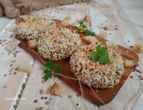 Polpette di lenticchie e pane raffermo al forno