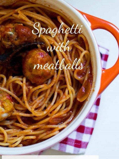 Spaghetti con polpette di verdure – Spaghetti with meatballs vegetable
