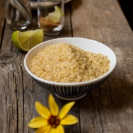 Bulgur con alici bottarga e lime