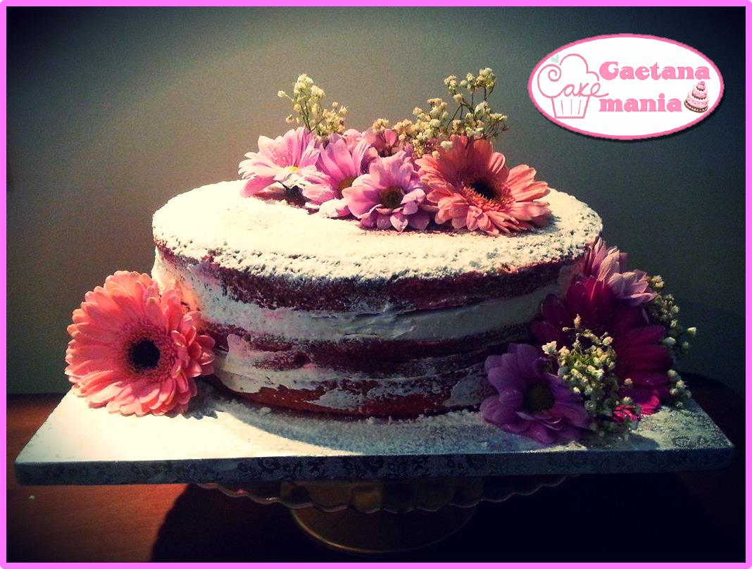 Red velvet naked con fiori freschi tutorial come fare e for Fiori con la e