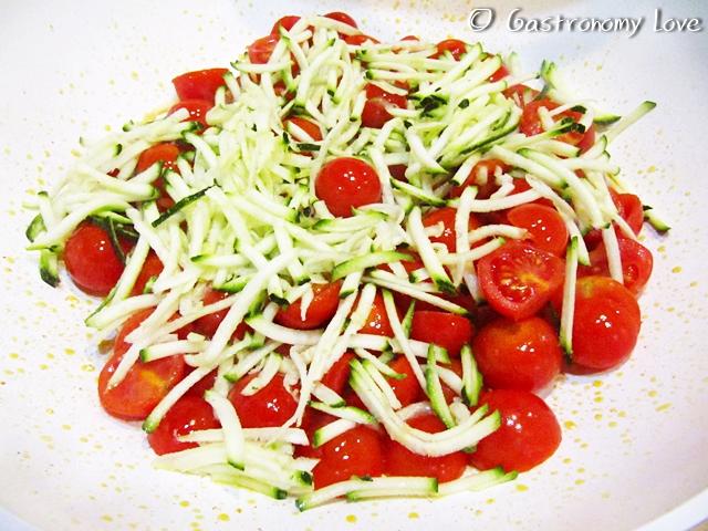 Pasta con zucchine e gamberetti_preparazione 4