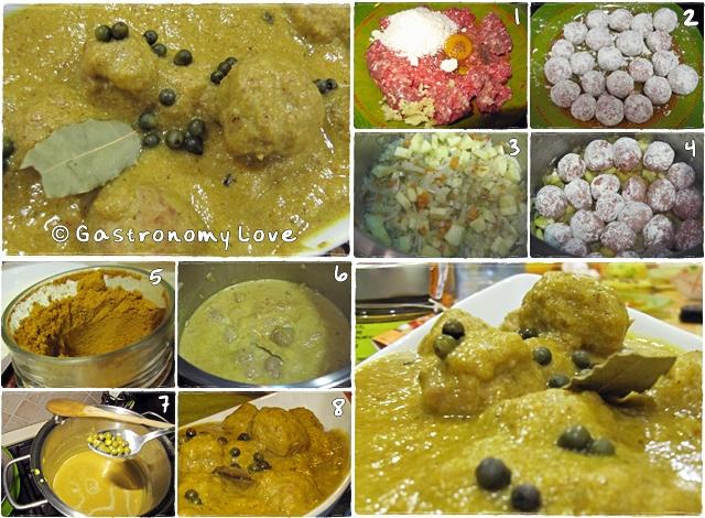 preparazione polpettine al curry