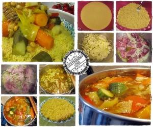 preparazione couscous alla tunisina