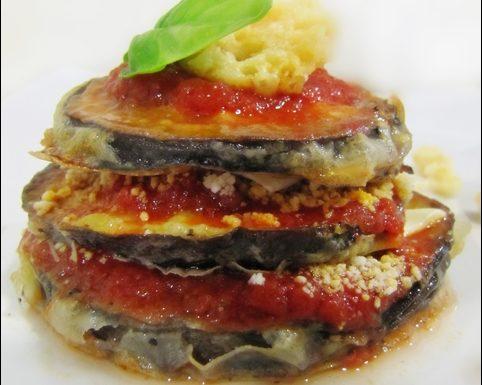 "Parmigiana GROKkante con melanzane ""crispate"""