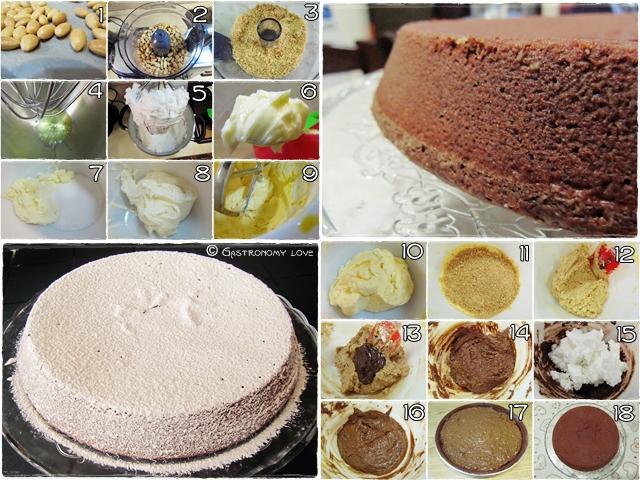 Preparazione torta Caprese con metodo della doppia montata