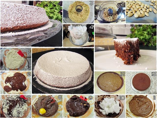 Preparazione sciuè sciuè della torta Caprese