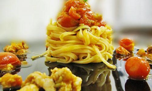 Linguine al ragù di salsiccia con salsa alla menta