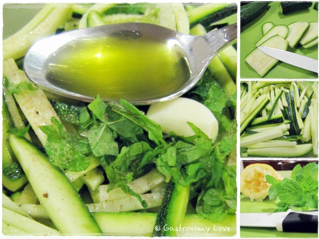 preparazione zucchine marinate