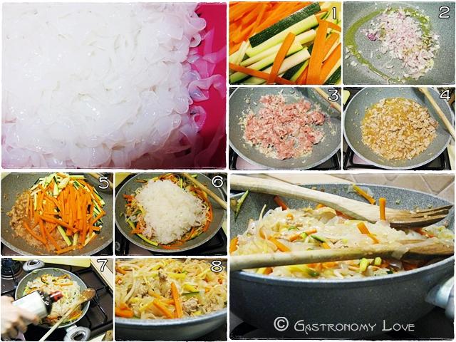 shirataki con carne e verdura_preparazione