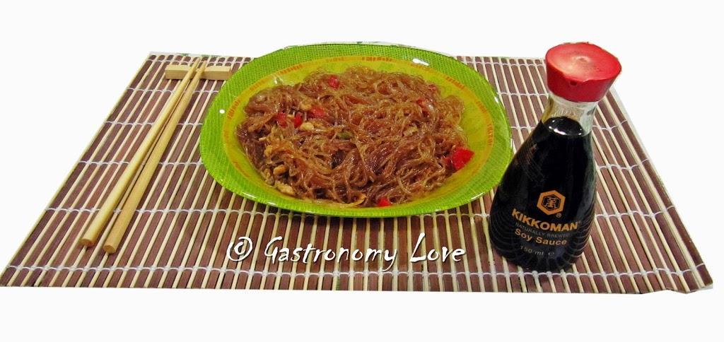 Ricetta cinese spaghetti di soia