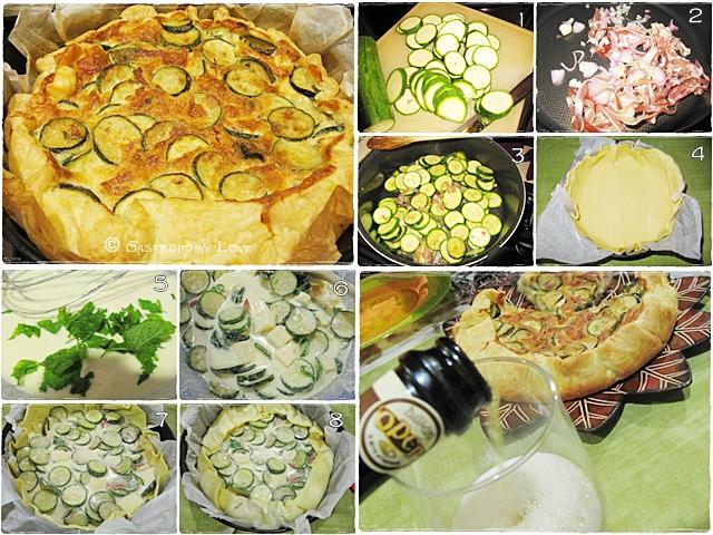 torta salata zucchine e pancetta_preparazione