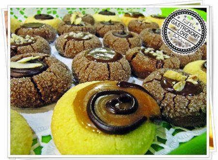 Fossette golose: biscotti scioglievoli ripieni al cioccolato