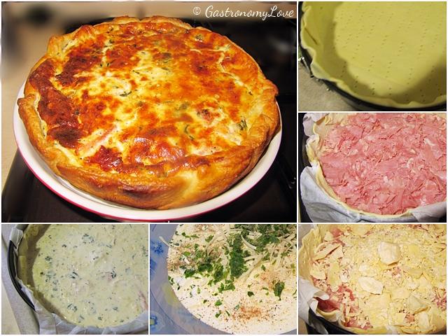 Torta salata prosciutto e formaggio_preparazione