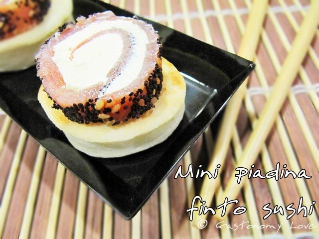 Mini piadina finto sushi