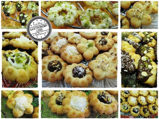 Decorazione dei biscotti di frolla montata