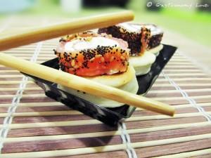 Mini piadine finto sushi