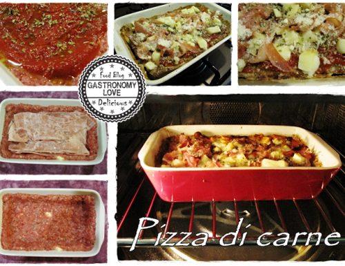 Pizza di carne macinata