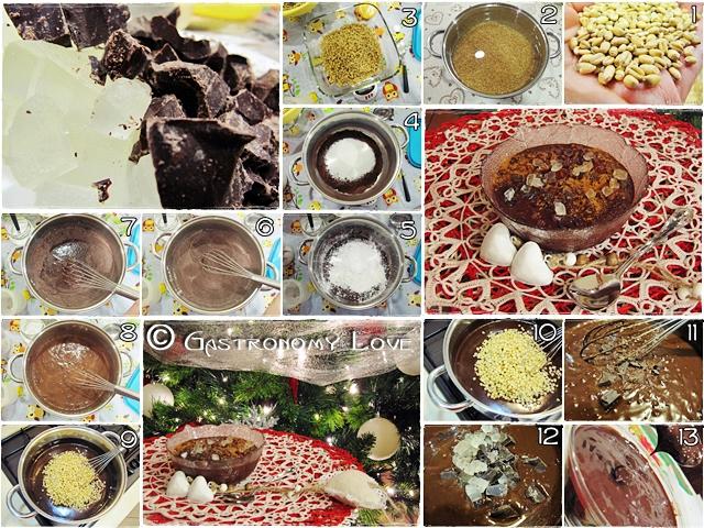 preparazione cuccìa al cioccolato