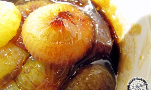 Cipolline all'aceto balsamico con cottura al microonde