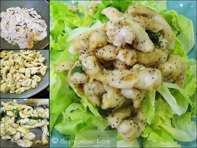 pollo al limoncello e semi di papavero_preparazione