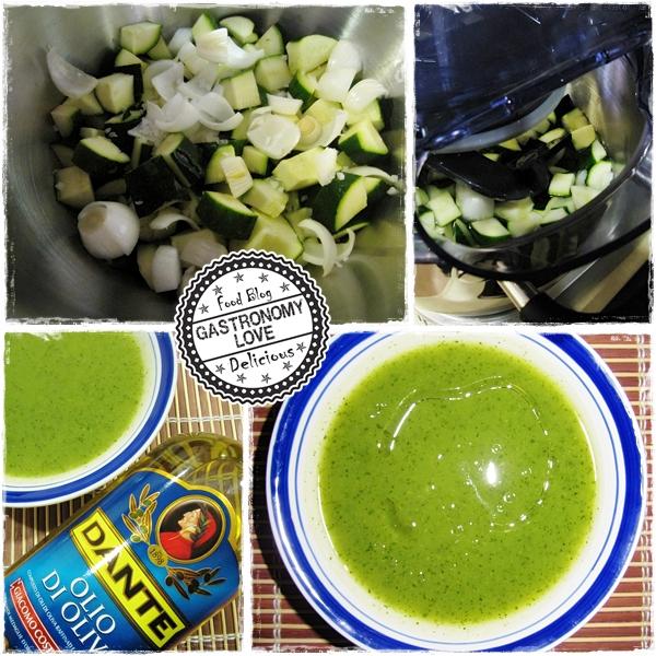 vellutata di zucchine prep