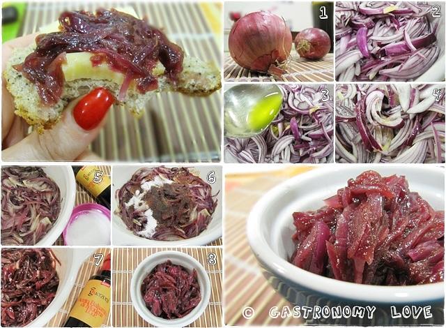 cipolla rossa in agrodolce_preparazione