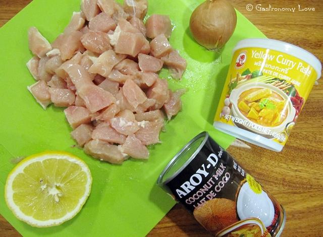 pollo thai al curry giallo_ingredienti