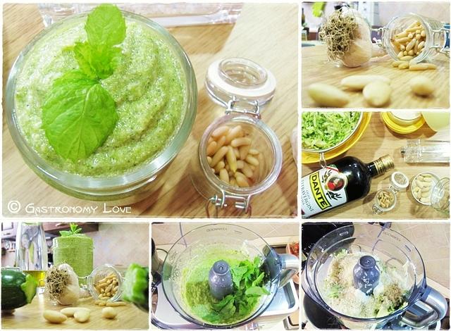 pesto di zucchine crude_preparazione