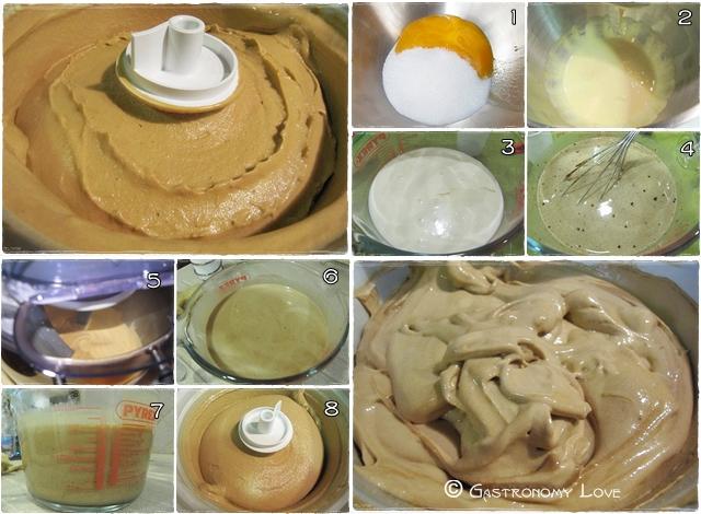 preparazione gelato al caffè