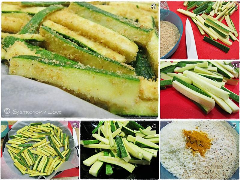 stick di zucchine croccanti al forno_preparazione