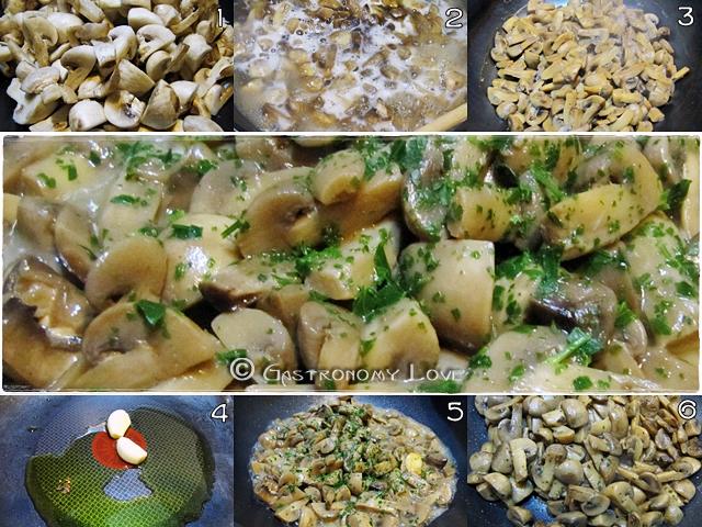 funghi trifolati_ preparazione
