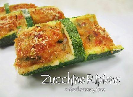 Cestini di zucchine ripiene al microonde