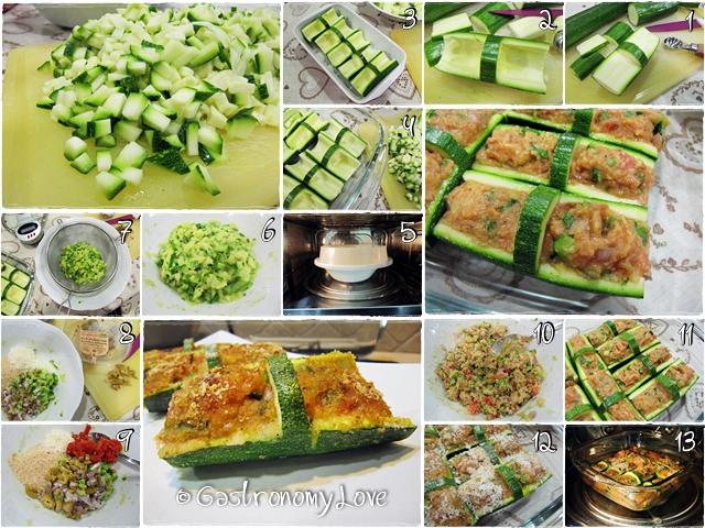 Cestini di zucchine ripiene_preparazione