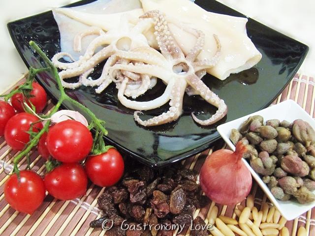 Totani ripieni in umido_ingredienti