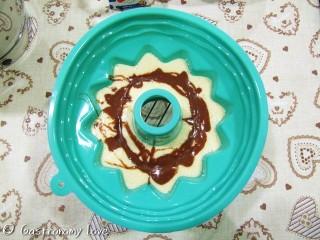 ciambella alla panna variegata al cacao
