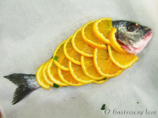 Orata all'arancia e olive nere 2