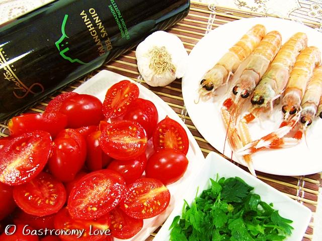 Pasta con gli scampi_ingredienti