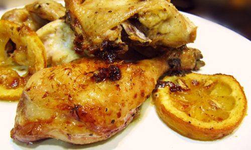 Pollo al limone al forno