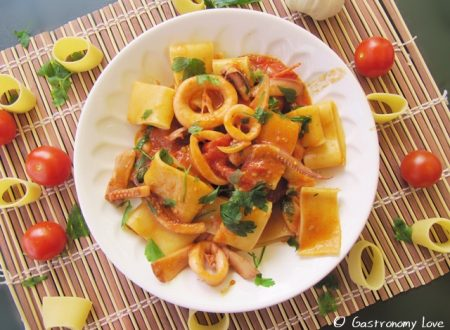 Calamarata: pasta con i calamari alla napoletana