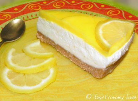 Cheesecake fredda al limone senza cottura