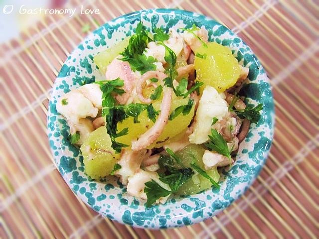 Insalata di moscardini con patate