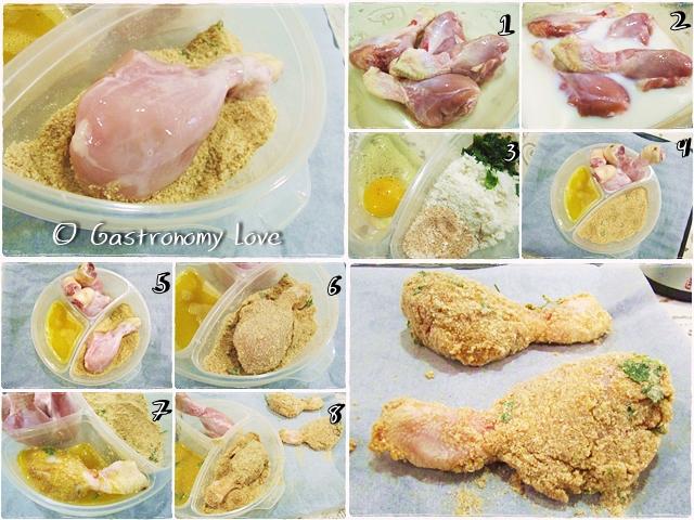 pollo fritto al forno_preparazione